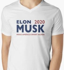 Elon Musk 2020 - Make America Smart Again! Men's V-Neck T-Shirt