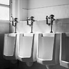 Four Urinals in a Row BW by YoPedro