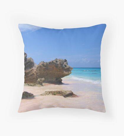 Horseshoe Bay - Bermuda Throw Pillow