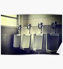 Four Urinals in a Row Poster