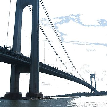 Verrazano Narrows Bridge, New York City, #VerrazanoNarrowsBridge, #VerrazanoBridge, #NewYorkCity by znamenski