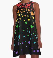 ... heart-rain! A-Line Dress