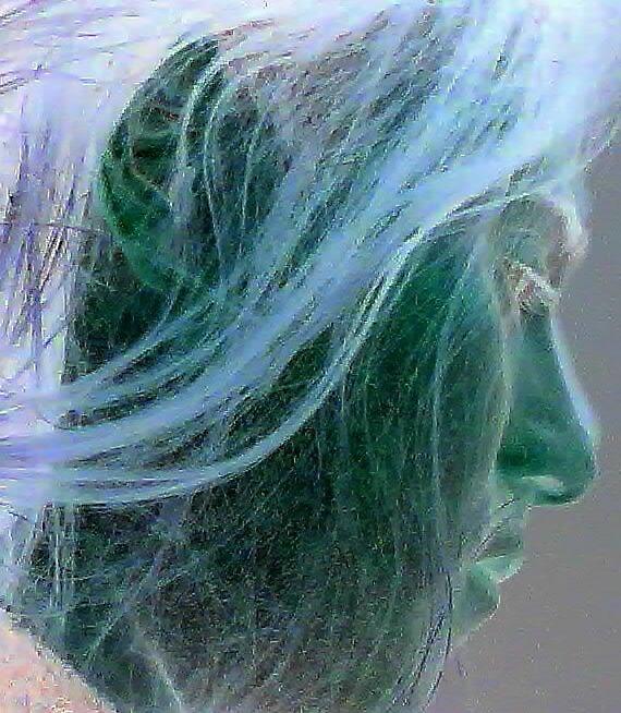 Portrait in blue by DMDavies