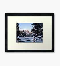 Frosted Layer Cake Framed Print