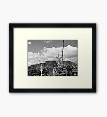 Mountain Town B&W Framed Print