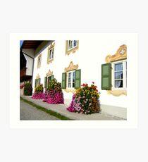 Farmhouse in Upper Bavaria Art Print
