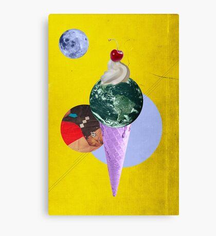 Color Chaos Collection -- Earth Cone Canvas Print