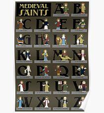 Medieval Saints Alphabet Poster