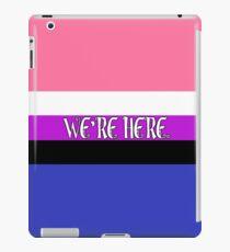 [Genderfluid] We're Here. iPad Case/Skin