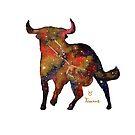 Taurus Charging by Justine Lombardi