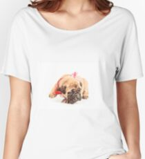 Puppy dog. Adorable puppy Women's Relaxed Fit T-Shirt