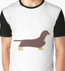 dachshund chocolate and tan silhouette Graphic T-Shirt