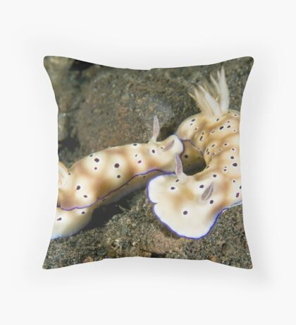 Nudibranch Foreplay Throw Pillow
