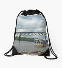 Poughkeepsie Railroad Bridge Drawstring Bag