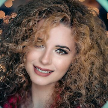 Beautiful woman with curly hair by alexstreinu