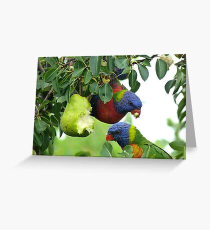 Pear feast Greeting Card