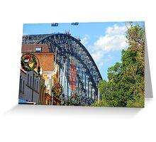 Merry Christmas - The Rocks V Harbour Bridge, Sydney Greeting Card