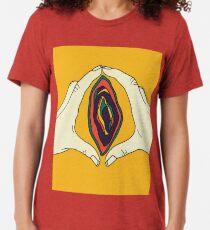 Vagina Vulva Art Tri-blend T-Shirt