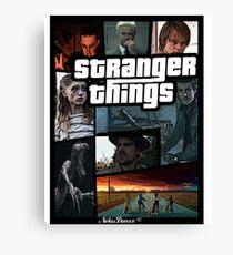 Stranger Things version GTA Canvas Print