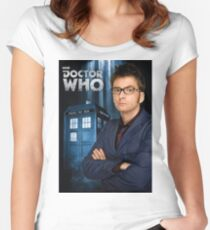 Doctor ten - doctor who Women's Fitted Scoop T-Shirt