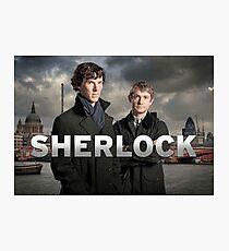 Sherlock holmes - bbc  Photographic Print