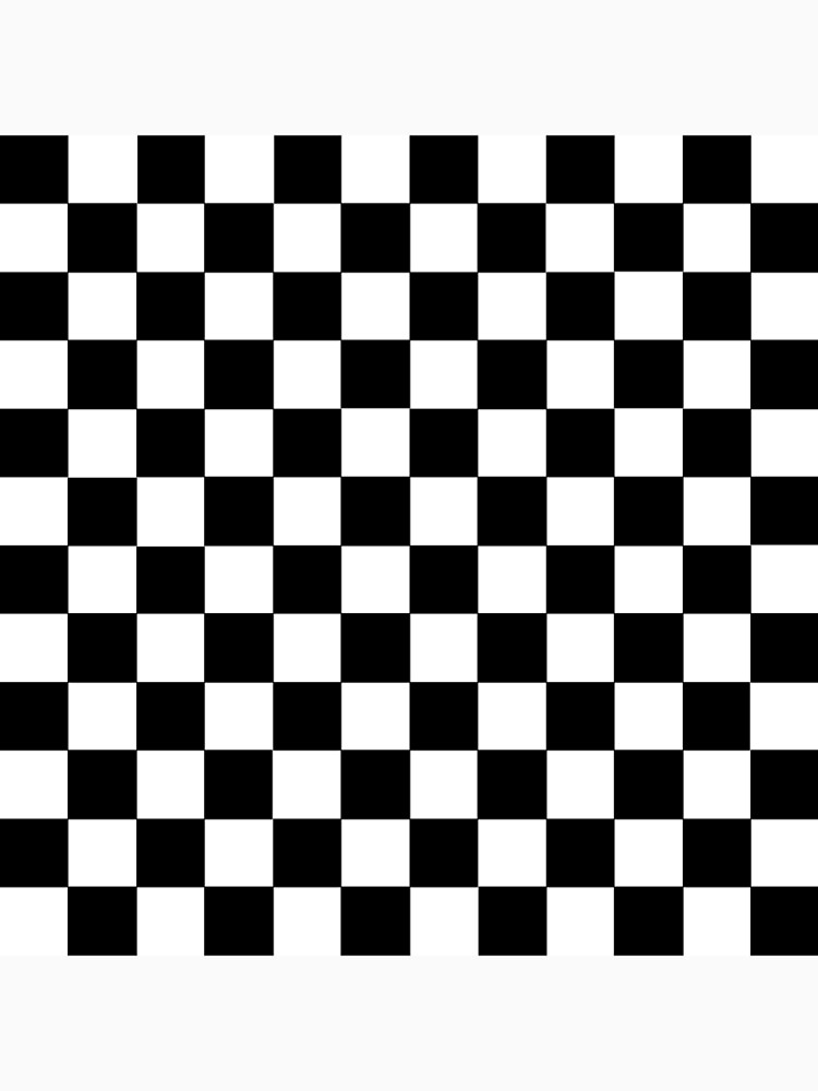 Checkered Black and White by lornakay