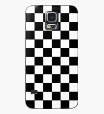 Checkered Black and White Case/Skin for Samsung Galaxy