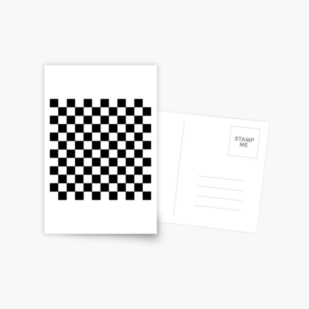 Checkered Black and White Postcard