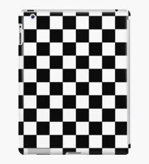 Kariertes Schwarz und Weiß iPad-Hülle & Klebefolie