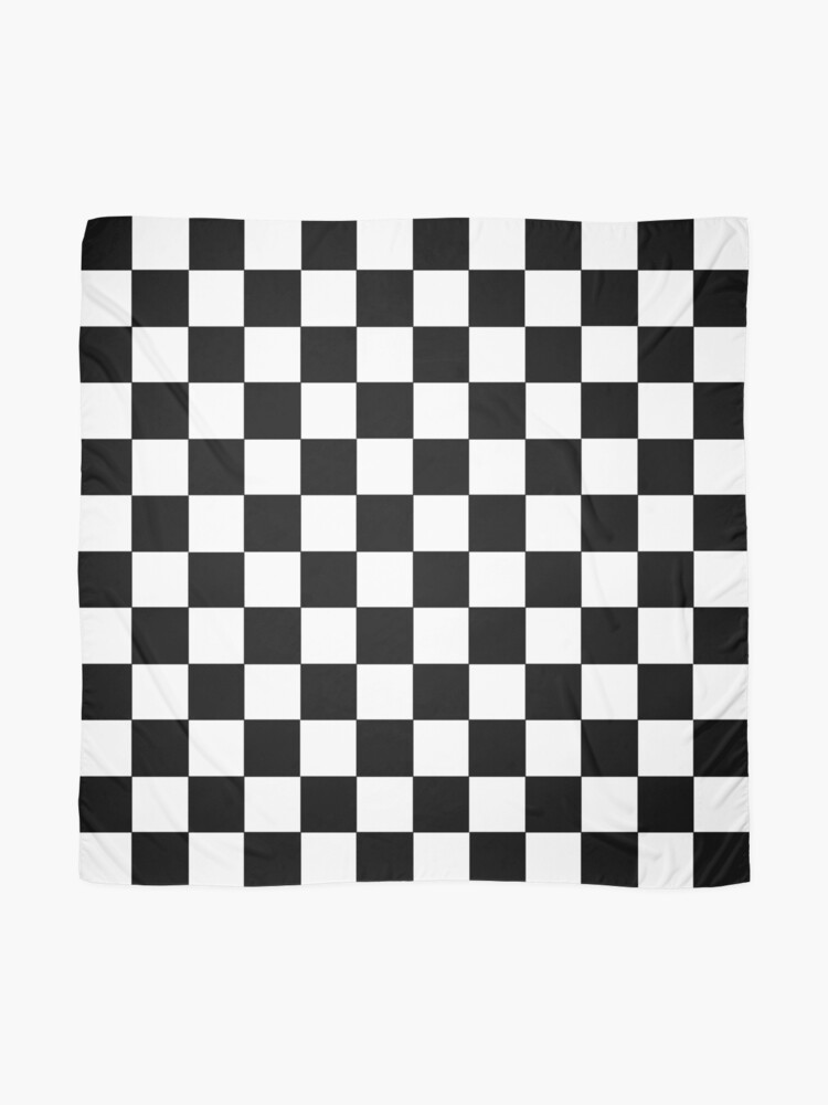 Alternate view of Checkered Black and White Scarf