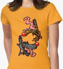 Willy and Wally Wolfy (cartoon wolves) by Cheerful Madness!! Womens Fitted T-Shirt