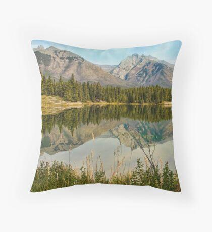 Johnson Lake, Banff Throw Pillow