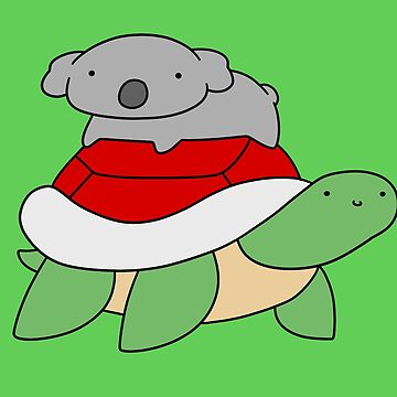Little Koala and Turtle by SaradaBoru