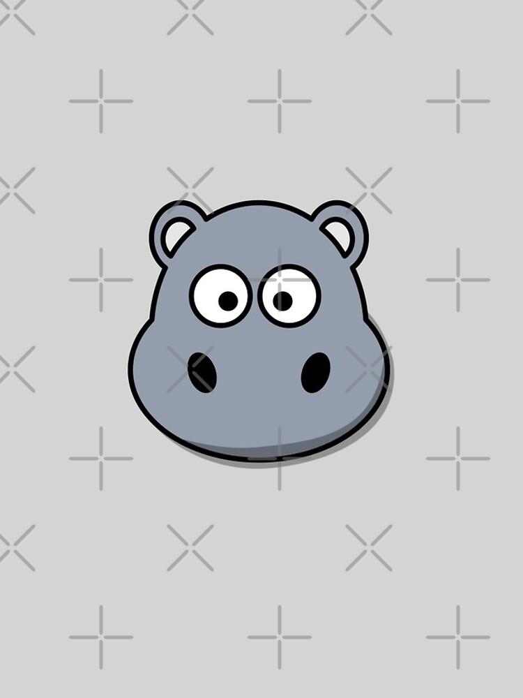 Cute Hippopotamus Emoji  von PrintPress