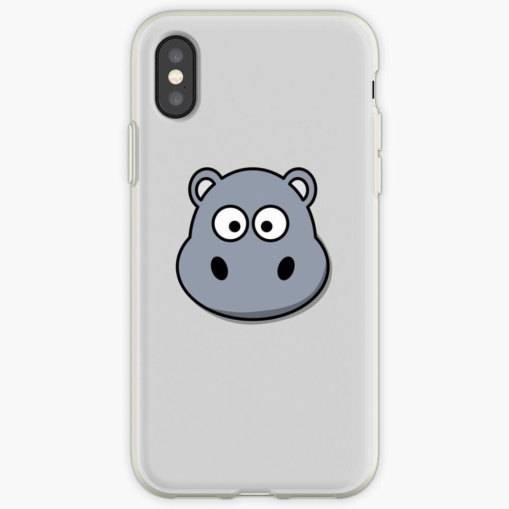 Cute Hippopotamus Emoji  iPhone-Hülle & Cover