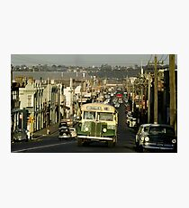 Evening traffic Johnston St Collingwood 19620508 0016 Photographic Print