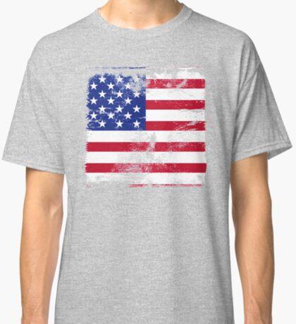 American Flag Used Classic T-Shirt