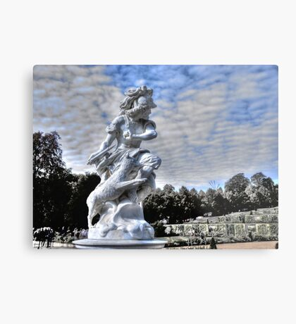 Garden statue at Sanssouci palace In Potzdam Germany Metal Print