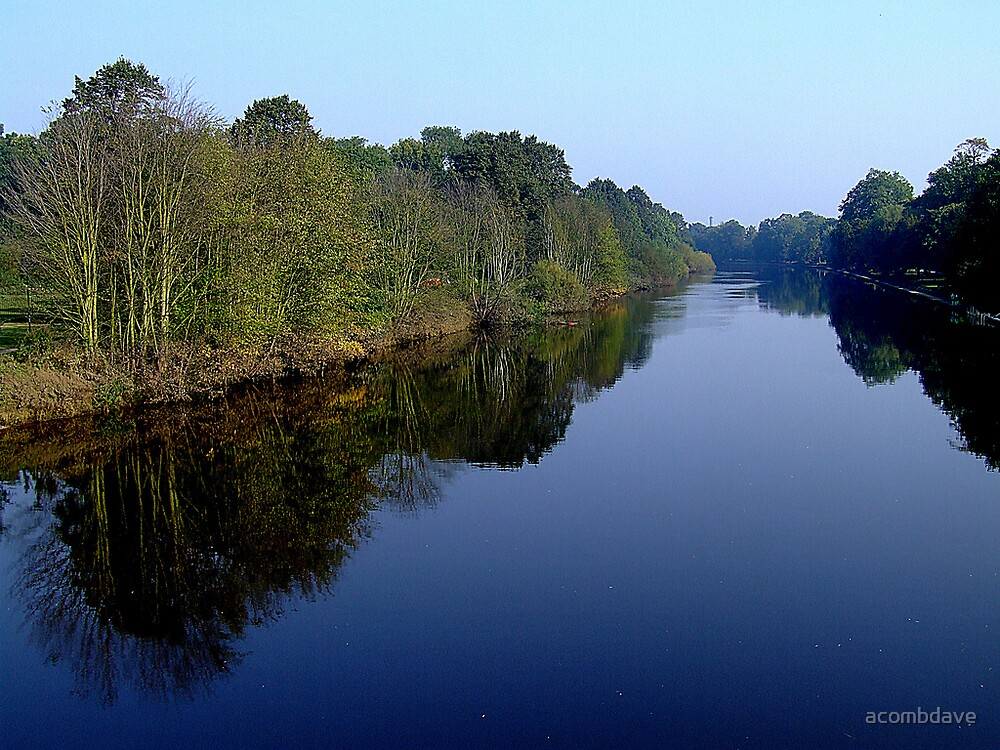 Quot Calm River Quot By Acombdave Redbubble