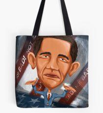 Cartoon Barack Obama Tote Bag