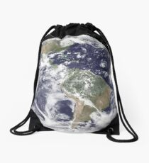 Earth that can see the continent of South Africa Drawstring Bag