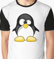 Cross Eyed Silly Cute Penguin Graphic T-Shirt