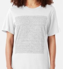 Every Lyric from Harry Styles Album Slim Fit T-Shirt