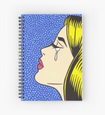 Blonde Crying Comic Girl Spiral Notebook