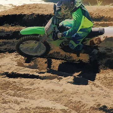 Kicking up Dirt - Motocross Racer by NaturePrints
