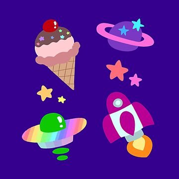 Pastel Space Icecream by SaradaBoru