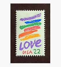 1985 22¢  Love Crayon Postage Stamp Photographic Print