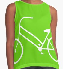 Women's Bicycle in White Contrast Tank