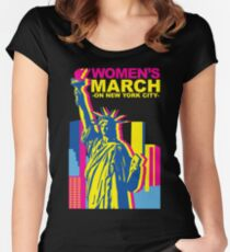 Womens March on new york 2018 Women's Fitted Scoop T-Shirt
