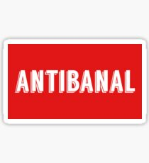 antibanal Sticker